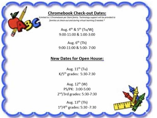 Open House/Chromebook Check-out