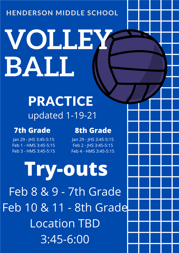 Volleyball Practice & Tryouts (click here)