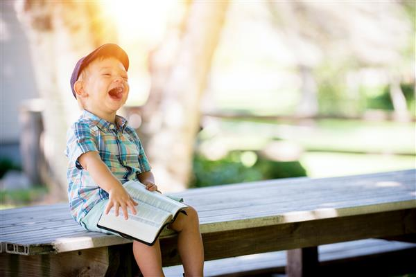 boy laughing